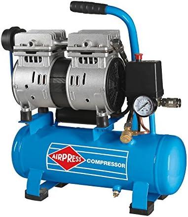 Airpress Druckluft Kompressor L 6 105 Silent 8 Bar 6 Liter 0 6 Ps 2 Zylinder Profi Baumarkt