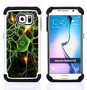 """Pulsar ( Neural Cerebro Ciencia Biología"""" ) Samsung Galaxy S6 / SM-G920 SM-G920 híbrida Heavy Duty Impact pesado deber de protección a los choques caso Carcasa de parachoques [Ne"""