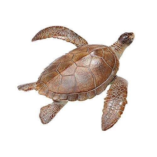 RECUR Loggerhead Turtle Toy Figure Toys Realistic Hand Painted Plastic Toy Model Caretta 10inch Safari Sea Turtle Life Replica Collectibles Gift for Kids & Adults (The Oldest Sea Turtle In The World)