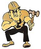 Gear New Purdue University Pete 3D Vintage Metal College Man Cave Art, Large, Gold/Black