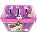 "Girl's 3-Slot Tin Bank for Tithing, Savings Fund, and Fun Money - Size: 5.75"" x 4.25"" x 4.5"""