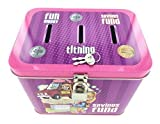 """Girl's 3-Slot Tin Bank for Tithing, Savings Fund, and Fun Money - Size: 5.75"""" x 4.25"""" x 4.5"""""""