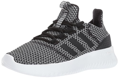adidas Kids' Cloudfoam Ultimate Sneaker, Black/Black/Metallic Silver, 4 M US Little Kid