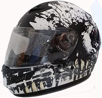 Amazon.es: Motocicleta Casco Moto Casco Carbon Kevlar Blanco Mate