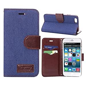GJY Vintage Cowboy Holster TPU and PU Full Body with Card with Stand for iPhone 6 (Assorted Colors) , Dark Blue