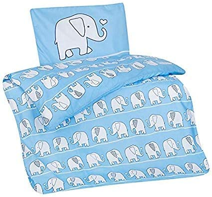 Aminata Kids Kinder Bettwäsche 100 X 135 Cm Elefant En Safari