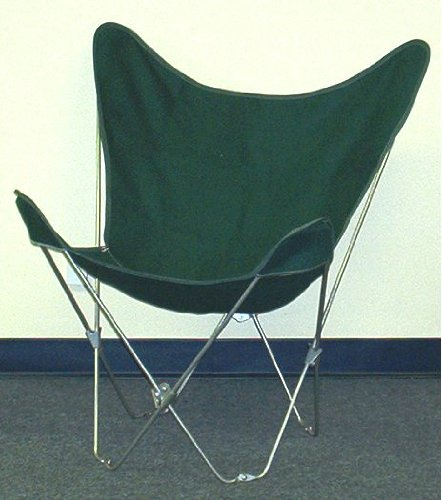 - Solid Green Canvas Butterfly Chair Cover
