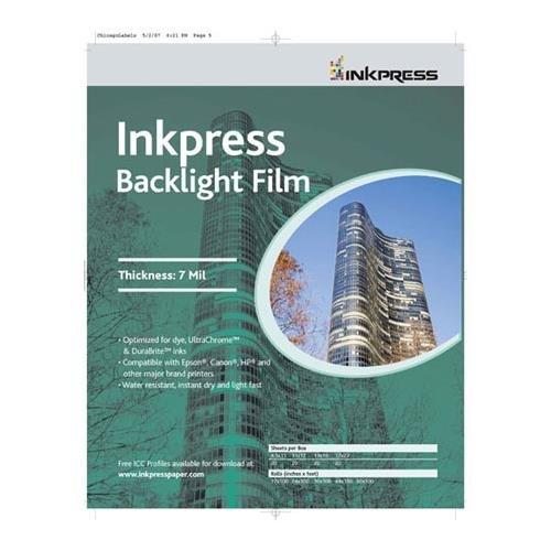 Inkpress Backlight Translucent White Semi-matte Inkjet Film, 4mil., 8.5x11