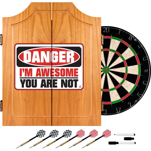 WWE The Miz Wood Dart Cabinet Set by Trademark Gameroom