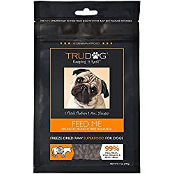 TruDog: Feed Me: Freeze Dried Raw Superfood - Real Meat Dog Food - Optimal Canine Health and Natural Longevity - All Natural - Balanced Nutrition - No Filters, No Grain - Just Add Water