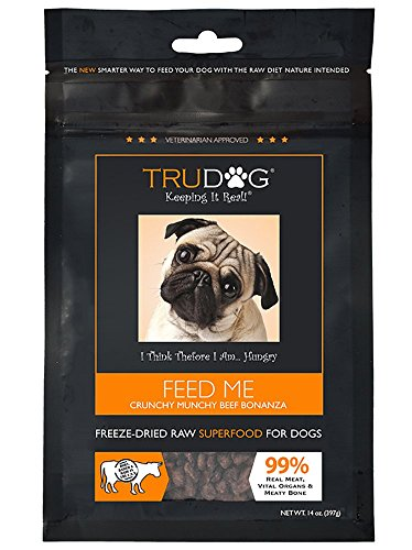 Real Meat Organic Dog Food - Feed Me: Freeze Dried Raw Superfood for Optimal Canine Health and Natural Longevity - All Natural - Balanced Nutrition - No Filters, No Grain - Just Add Water (Beef, (Solid Core Bone)
