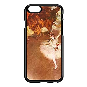 Ballerian Girl 1 by Edgar Degas Black Hard Plastic Case for iPhone 6 by Painting Masterpieces + FREE Crystal Clear Screen Protector