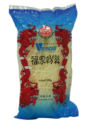 Diamond Glasnudeln, lang, Lungkou Vermicelli, 6er Pack (6 x 500g Packung)