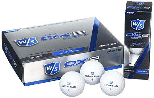 2015 Ladies Wilson Staff DX2 Soft Distance Womens Golf Balls White - 1 Dozen by Wilson Golf