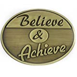 PinMart's Antique Bronze Corporate Believe and Achieve Motivation Lapel Pin