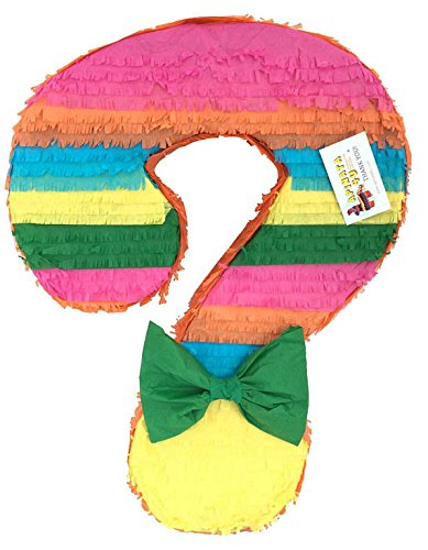 APINATA4U Gender Reveal Question Mark Pinata Fiesta ()