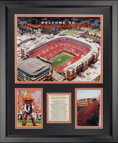 Legends Never Die Oklahoma State University - T Boone Pickens Stadium Framed Photo Collage, 16