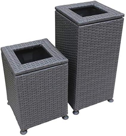 ゴミ袋 ゴミ箱用アクセサリ プラスチック藤の屋外のゴミ箱の大容量公園のホテルのロビーの浴室のオフィスのゴミ箱の収納バケツ キッチンゴミ箱 (サイズ : S)