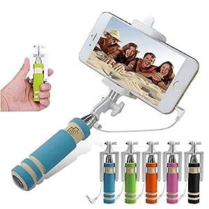 ARBUYSHOP al por mayor 10pcs / lot del teléfono portátil plegable con cable Sticks auto autofoto para el iphone Samsung obturador incorporado Cámara Monopod del trípode
