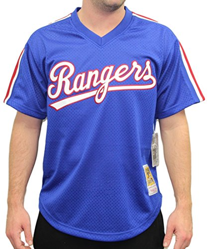 Mitchell & Ness Nolan Ryan Blue Texas Rangers Authentic Mesh Batting Practice Jersey (Large)