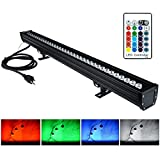 YRXC LED Wall Washer,108W RGBW Color Changing LED Light Bar With RF Remote Controller,IP65 Waterproof,120V,3.2ft/40in Linear LED Wall Washer Lights for Outdoor/Indoor Church Casinos Parties Billboards