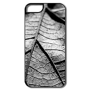 Custom Vintage Cover Dry Leaf Black White For IPhone 5/5s