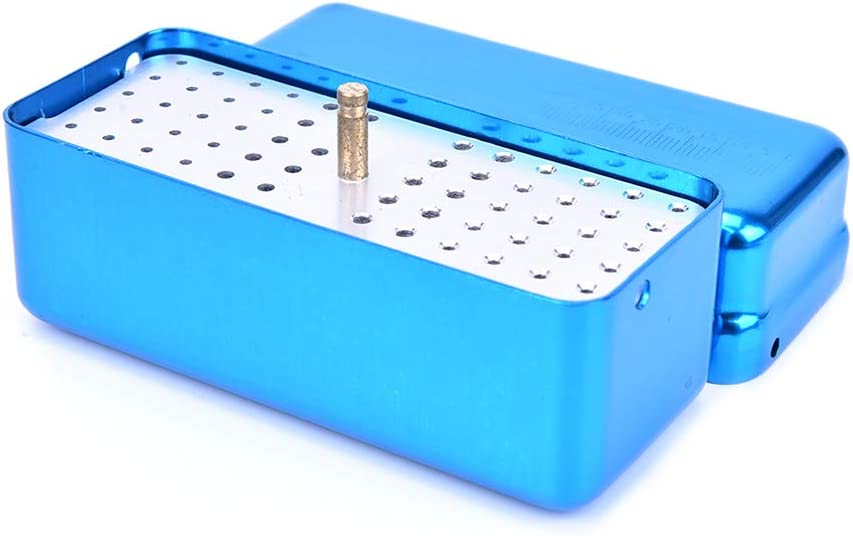 kimtery 72 Hole Aluminium Autoclave Sterilizer Case Burs Dental ...