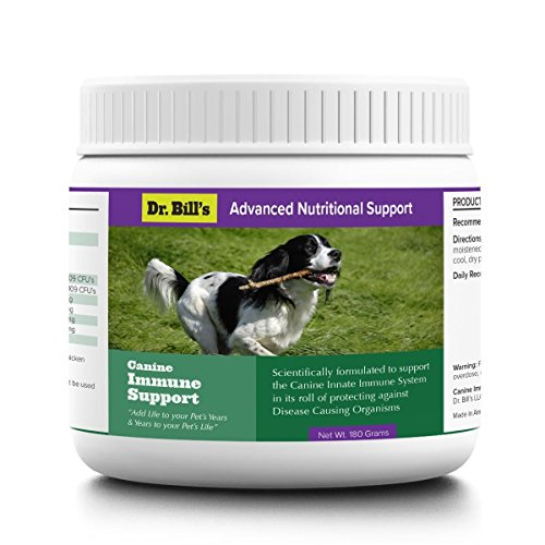Dr. Bill's Canine Immune Support | Pet Supplement | Supports Innate Immune System | Includes Colostrum, Lactoferrin, Beta Glucan, Vitamin C, CoQ10, Bifidobacterium, and Zinc | 180 ()