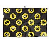 RUNNING BEAN Bitcoin Golf Towel Fashion Sports Towel Player Towel