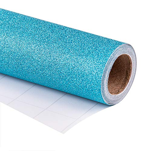 WRAPAHOLIC Gift Wrapping Paper Roll - Glitter Aqua for Birthday, Holiday, Wedding, Baby Shower Gift Wrap - 30 inch x 16.5 feet