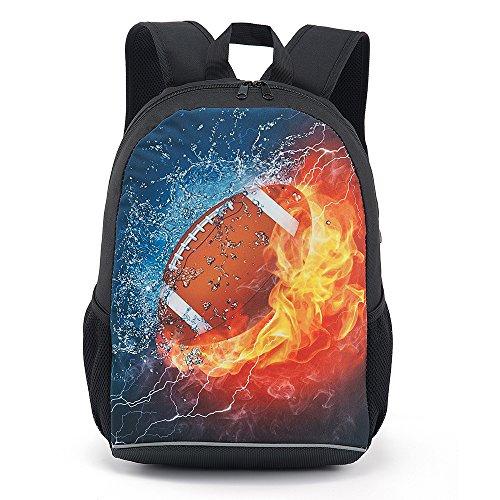 Football Backpack (CARBEEN 17 Inch American Football Backpack School Bag)