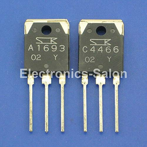 FidgetKute 1pcs 2SA1693 & 1pcs 2SC4466 Original SANKEN Audio High Power Transistor Show One Size