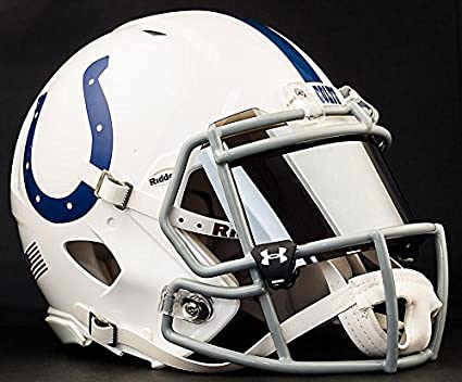 Riddell velocidad Indianapolis Colts nfl auténtico casco de fútbol con ojo  de espejo escudo visera 1e619cbeee0