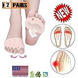 Metatarsal Pads, Toe Separator, Gel Metatarsal Cushion Toe Separators, (4 PCS) New Material,Forefoot Pads, Toe Spacers,Breathable & Soft Gel, Best for Diabetic Feet, Blisters, Forefoot Pain.
