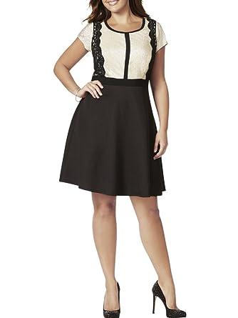 Black and Gold Knee Length Dress