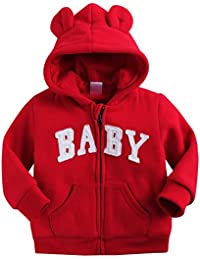 Vaenait Baby 6-24M Winter Hooded Fleece Outwear Zipup Jacket Coat Baby Hoodie