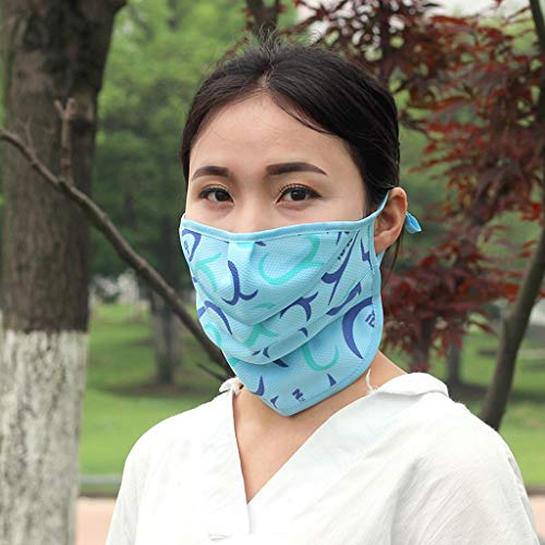 Fainosmny Anti-dust Reusable Cotton Mouth Face Masks Mouth Cover for Man and Woman Face Mask for Unisex Blue