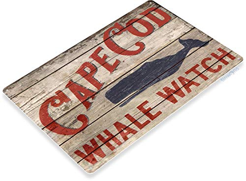 Tinworld TIN Sign B757 Cape Cod Whale Watch Beach House Fishing Cottage Marina Rustic Metal Decor
