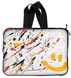 High Quality Paint Splatter Water Resistant Neoprene Laptop Sleeve 13 Inch Handle Notebook Computer Bag Case Cover(Twin Sides)