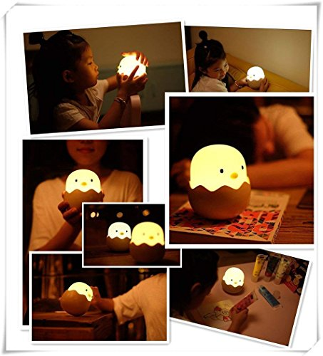 (Updated Version)Tecboss Night Light for Kids, Baby Night Light Touch Control Rechargeable Nursery Lamp Cute Chick Nightlights for Breastfeeding Kids Children Room by Tecboss (Image #7)