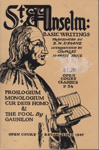 St. Anselm: Basic Writings