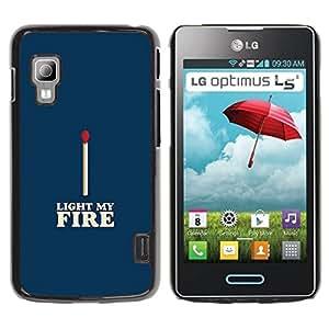 Paccase / SLIM PC / Aliminium Casa Carcasa Funda Case Cover para - Match Blue White Fire Love Valentines - LG Optimus L5 II Dual E455 E460