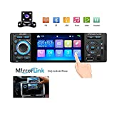 Single Din Car Radio 4'' HD Touch Screen MP5 Player Bluetooth FM Radio