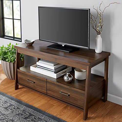 Finish Walnut Stand Tv (Mainstays Logan TV Stand For Flat Screen TVs up to 47