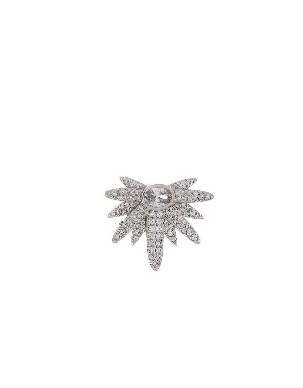 Anuradha Art Silver Finish Classy Designer Studded Stone Adorable Brooch Lapel Pin for Women/Men