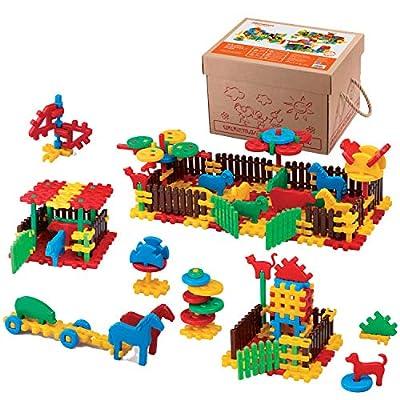 Marioinex 900956 Farm, 240 Pieces Packed in A Carton, Multi-Colour: Toys & Games