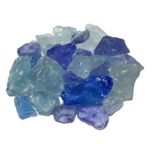 AZ Patio Heaters Fire Pit Fire Glass in Bahama Blend, 10 Pounds ()