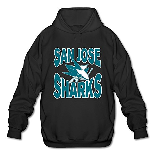 AK79 Men's Hoodies San Jose Hockey Sharks Size XXL Black