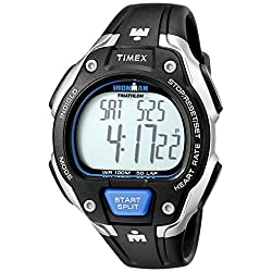Timex Men's T5K718 Ironman Road Trainer Full-Size Digital HRM Watch & Flex-Tech Chest Strap