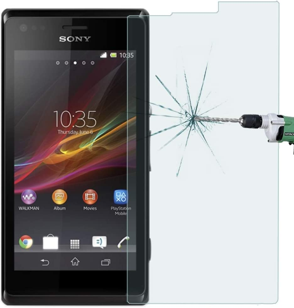 LGYD for 50 PCS Sony Xperia M 0.26mm 9H Surface Hardness 2.5D Explosion-Proof Tempered Glass Film No Retail Package